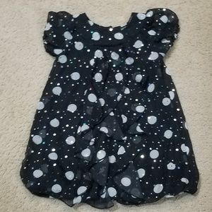 Girls dress with ruffles